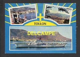 DD / TRANSPORTS / BATEAUX / GUERRE / LE PORTE-AVION FOCH EN RADE DE TOULON / CIRCULÉE EN 1964 - Guerre