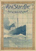 Navigation Red Star Line Antwerpen-New York 1901 - Postcard Reproduction - Publicité