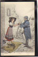 319 . MILITARIA . ENFIN  . (recto/verso)  ANNEE  1920 . - Patriotic