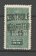 ALGERIE COLIS POSTAUX YVERT N° 28 / MAURY N° 41 NEUF* TRACE DE CHARNIERE / MH - Algérie (1924-1962)