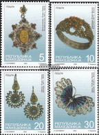 Makedonien 189-192 (complete.issue.) Unmounted Mint / Never Hinged 2000 Silver Jewelry - Macedonia