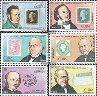 Cuba 3382-3387 (complete Issue) Unmounted Mint / Never Hinged 1990 150 Years Stamps - Cuba