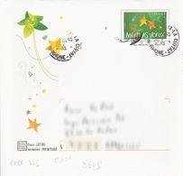 D649 - Entier / Stationery / PSC - Enveloppe PAP Meilleurs Voeux - 2 étoiles Fond Vert - Prêts-à-poster:  Autres (1995-...)