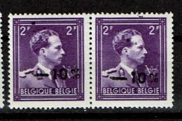 724 0  Paire  **  Taches Surcharge - 1946 -10%