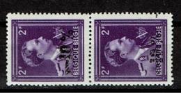 724 0  Paire  ** Surcharge Dégradée - 1946 -10%