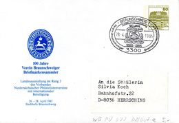 """(BPGS) Berlin Privat GZS-Umschl. PU 070 D2/007a WSt.80(Pf) Oliv """"100 J. Verein Braunschweiger BM-Sammler"""" SSt. 28.4.85 - [5] Berlin"""