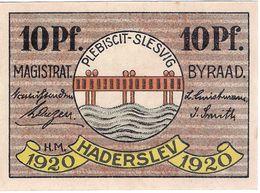 Deutschland Notgeld 10 Pfennig Tieste2695.10.25 HADERSLEBEN /110M/ - Lokale Ausgaben
