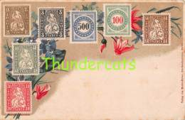 CPA  LE  LANGAGE DES TIMBRES STAMPS MENKE HUBER SUISSE SWITSERLAND - Timbres (représentations)