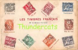 CPA  LE  LANGAGE DES TIMBRES STAMPS LES TIMBRES FRANCAIS FRANCE  VANDERAUWERA - Timbres (représentations)