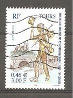 France 2001  Y T N°3397  Oblitéré Tours 37 Indre Et Loire Statuette De Compagnon Port Et Cathédrales - Usati