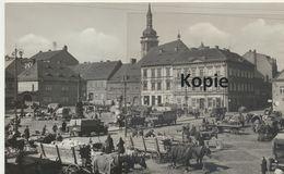 AK Brüx, Belebter Marktplatz Um 1940 - Tschechische Republik