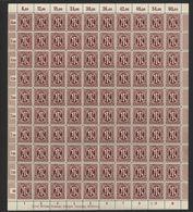 Am-Post-Bogen,33bAz,BT.5,mit II,III,VI,gefaltet (M7) - Bizone
