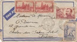 COVER. COTE D'IVOIRE. 3 11 38. OUAGADOUGOU TO FRANCE - Côte-d'Ivoire (1892-1944)