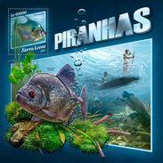 SIERRA LEONE 2017 - Piranhas, Archery S/S. Official Issue. - Tiro Al Arco