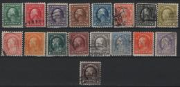 Stati Uniti 1914 Unif.280/95,321 O/Used VF/ F - United States