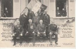 St Hilaire Lès Mortagne-27 Octobre 1912.Remise De Médaille Commemo.de 1870 1871 Anciens Combattants.Edit.Pervis. - Autres Communes