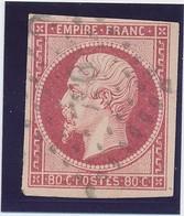 80 C Carmin N° 17 A Signé Calves TB. - 1853-1860 Napoléon III