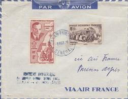 COVER SENEGAL. 8 3 48. 20° ANNIVERSERY SERVICE AERIEN DAKAR BUENOS-AIRES - Storia Postale