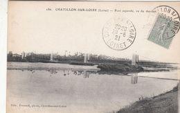 Cp , 45 , CHATILLON-sur-LOIRE , Pont Suspendu, Vu Du Dessous - Chatillon Sur Loire