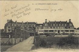 """WWI -1914- 8 Le Touquet-Paris-Plage - Le Golf-Hôtel -  """" Depot De Convalescents - ATLANTIC HÔTEL  - Paris Plage  """" - Marcofilie (Brieven)"""