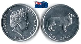 Cook Island - 1 Cent 2003 (UNC - Collie) - Islas Cook