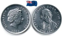 Cook Island - 1 Cent 2003 (UNC - James Cook) - Islas Cook