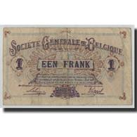 Billet, Belgique, 1 Franc, 1918, 1918-10-21, KM:86b, B+ - [ 3] Ocupaciones Alemanas En Bélgica