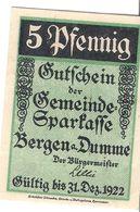 Deutschland Notgeld 5 Pfennig Mehl78.1 BERGEN /112M/ - [11] Emissions Locales