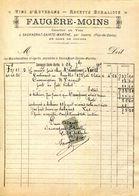 63.PUY  DE DOME.SAUVAGNAT SAINTE MARTHE.VINS D'AUVERGNE.RECETTE BURALISTE.FAUGERE-MOINS - Food