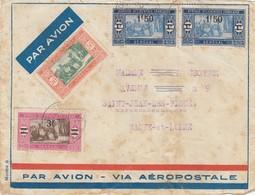 FRONT COVER SENEGAL. PAR AVION VIA AEROPOSTALE TO FRANCE - Briefe U. Dokumente