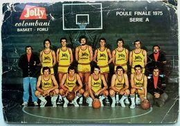 Cartolina Basket Forlì - Jolly Colombani - 1975 (Condizioni Non Ottimali) - Pallacanestro