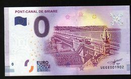 France - Billet Touristique 0 Euro 2018 N° 1902 (UEEE001902/5000)- PONT-CANAL DE BRIARE - EURO