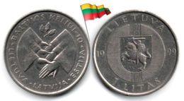 Lituanie - 1 Litas 1999 (Baltic Way - High Grade) - Lithuania