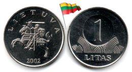 Lituanie - 1 Litas 2002 (UNC - Regular Issue) - Lituania
