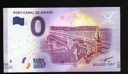 France - Billet Touristique 0 Euro 2018 N° 1907 (UEEE001907/5000) - PONT-CANAL DE BRIARE - EURO