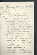 LETTRE DE 1891 ECRITE DE QUINCY SOUS SENART : - Manuscripts