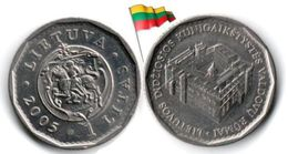 Lituanie - 1 Litas 2005 (UNC - Palace Of The Rulers) - Lituania