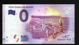 France - Billet Touristique 0 Euro 2018 N° 1908 (UEEE001908/5000) - PONT-CANAL DE BRIARE - EURO