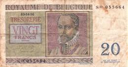 Royaume De Belgique Belgie 20 FRANK - 20 Francs Belge - Philippus De Monte. - [ 2] 1831-... : Belgian Kingdom