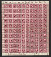 Am-Post-Bogen,30cAz,BT.7,mit XVI,XX,gefaltet,xx (M7) - Bizone