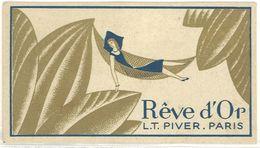 Carte Parfumée Rêve D'Or L.T. Piver, Paris, Pub Maclas - Cartes Parfumées
