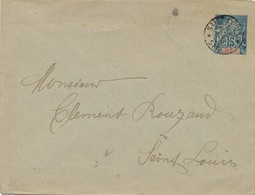 Entier Postal Senegal Saint Louis - Sénégal (1887-1944)