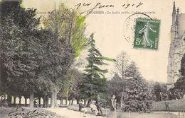 CPA 35 FOUGERES LE JARDIN PUBLIC L ALLEE PRINCIPALE 1908 - Fougeres