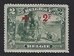 BELGIQUE - BELGIE 161 Met Plakker - Avec Charniere - 1918 - 1914-1915 Croix-Rouge