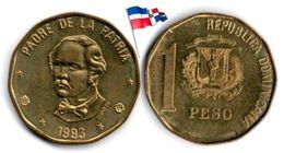 Dominican Republic - 1 Peso 1993 (High Grade) - Dominicana