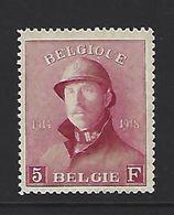 BELGIQUE - BELGIE 177 Met Plakker - Avec Charniere - 1919 - 1919-1920 Roi Casqué