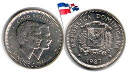 Dominican Republic - 5 Centavos 1987 (UNC) - Dominicaine