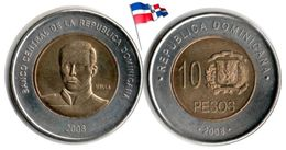 Dominican Republic - 10 Pesos 2008 (UNC) - Dominicana