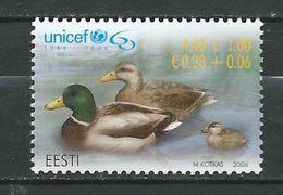 Estonia 2006 The 60th Anniversary Of UNICEF.duck MNH - Estonia