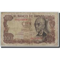 Billet, Espagne, 100 Pesetas, 1970, 1970-11-17, KM:152a, B - [ 3] 1936-1975 : Regency Of Franco
